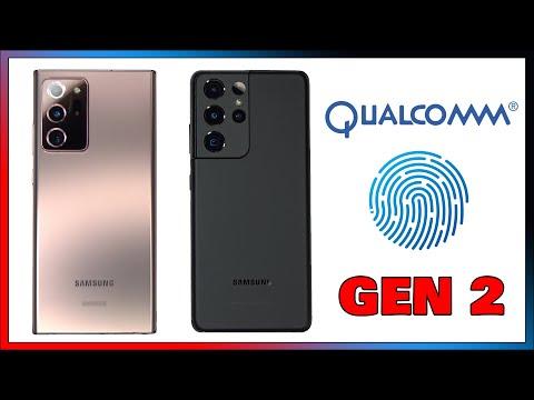 Qualcomm 3D Sonic Sensor Gen 2 Ultrasonic Fingerprint Scanner Galaxy S21 Ultra VS Note 20 Ultra