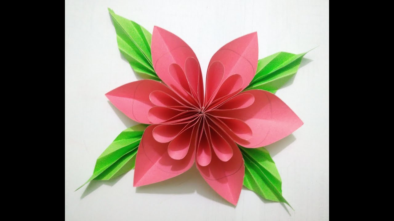 How To Make A Colourful Paper Flower Hand Made Flower By Dd Art