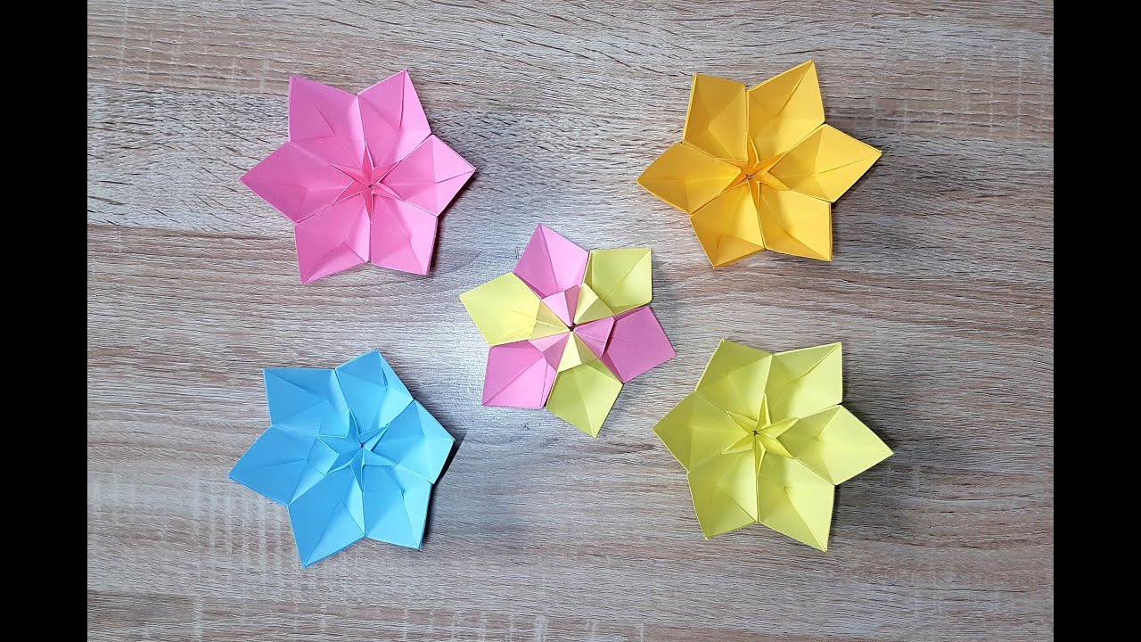 ellie s blumenspecial origami blume falten narzisse origami flower youtube. Black Bedroom Furniture Sets. Home Design Ideas