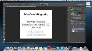 Guide - How to change language on Adobe CC to english