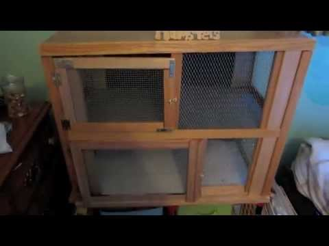 Homemade wooden hamster cage youtube for How to build a hamster cage