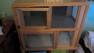 Homemade Wooden Hamster Cage