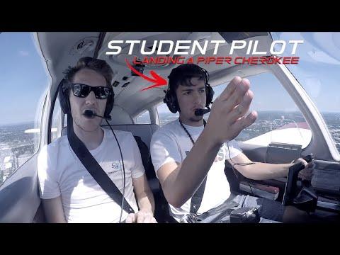 Student Pilot Landing A PA28