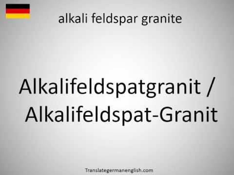 How to say alkali feldspar granite in German?