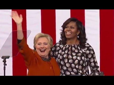 Hillary Clinton, Michelle Obama FULL SPEECH at North Carolina Rally (10/27/2016)