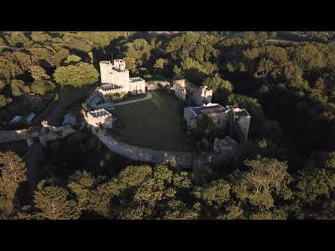 Aerial Drone Footage Of Saltwood Castle