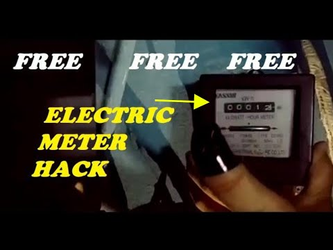electric meter hack without magnet (open electric meter method)