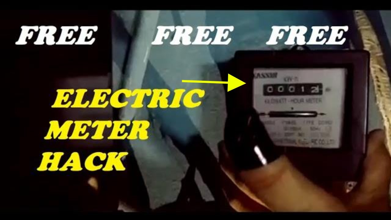 Electric meter hack with Electric Meter Opening