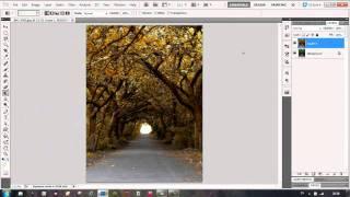 Summer autumn effect in photoshop