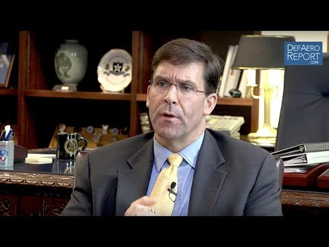 EXCLUSIVE: US Army's Esper Says Multi-Domain Battle Concept Crucial for Great-Power Competition