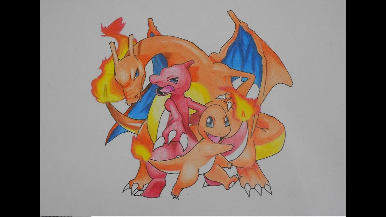 imagens de pokemons para colorir charmeleon