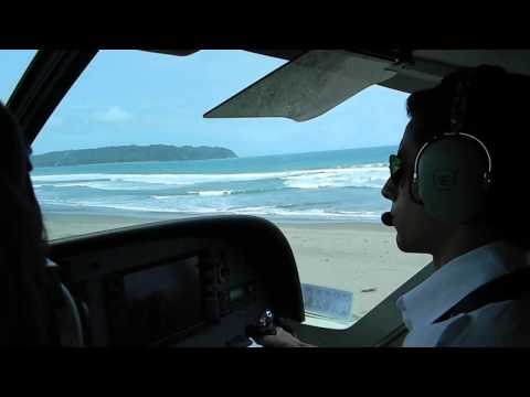 Landing in Pangandaran Beach Strip - Susi Air
