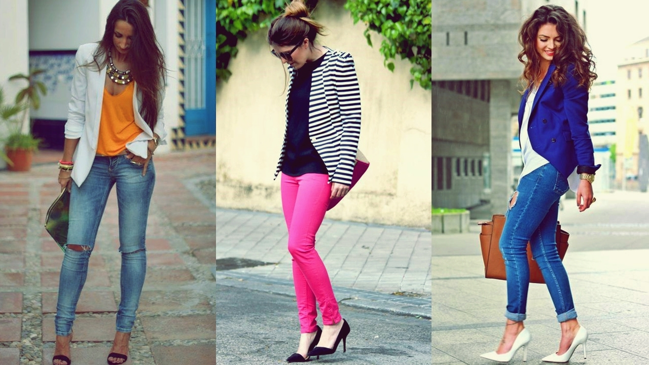c21d9f9d37b0f OUTFITS CON JEANS Y BLAZER