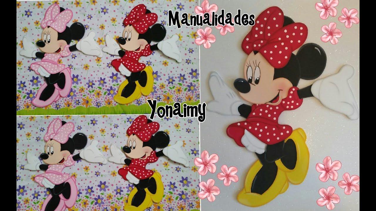 Minnie Mouse Completa En Foamy O Goma Eva Youtube