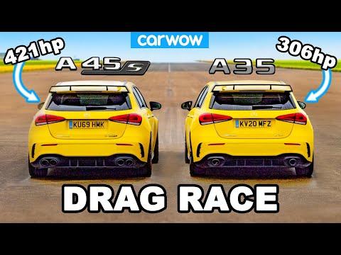 AMG A45 S v AMG A35 - DRAG RACE *worth the extra £12K?*