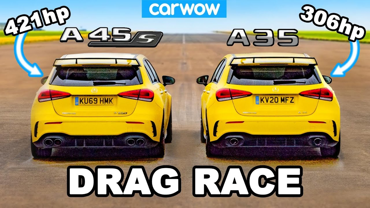 Download AMG A45 S v AMG A35 - DRAG RACE *worth the extra £12K?*
