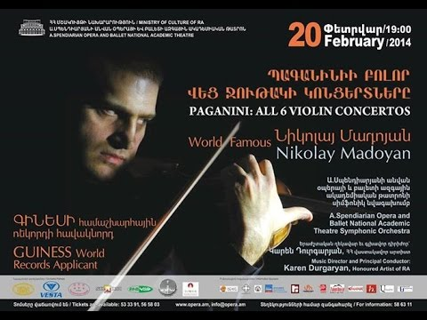 HISTORICAL CONCERT! Paganini 6 VIOLIN CONCERTOS in 1 evening by heart!