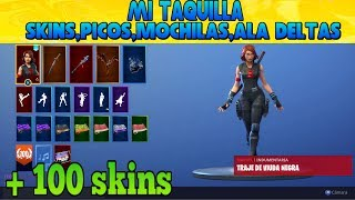 MY FORTNITE LOCKER!! +100 SKINS AND PICOS,MOCHILAS.... ( 28 /04/2019 )
