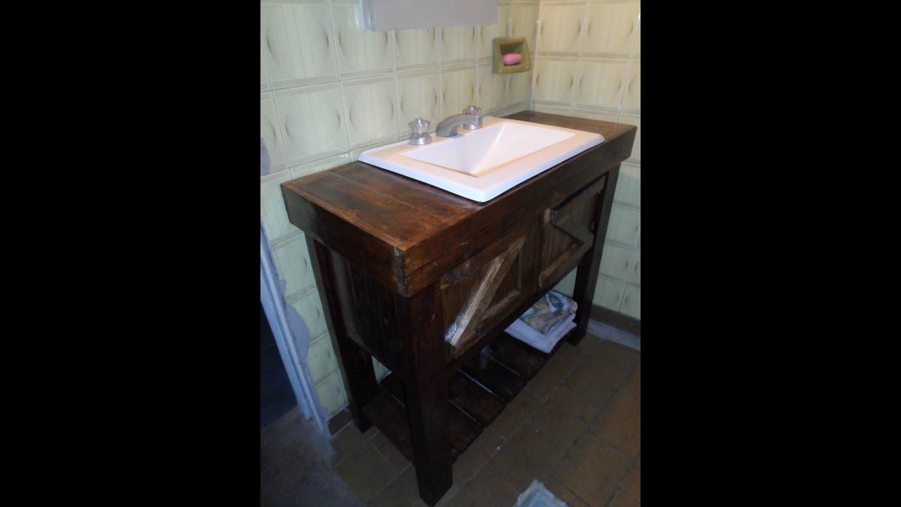 Muebles Para Baño Hechos Con Palets:VANITORY RECICLADO DE PALETS – YouTube