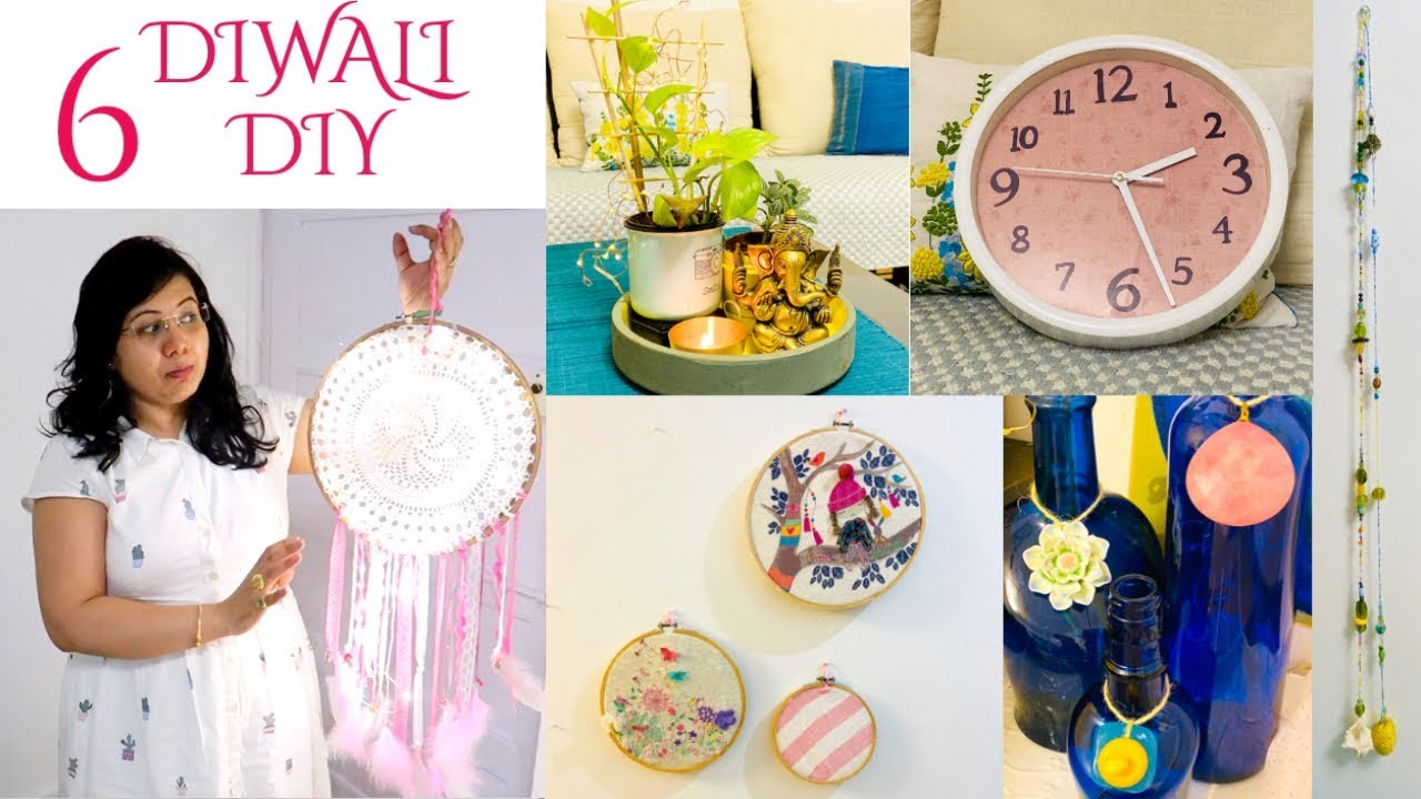 6 Easy Diy Indian Home Decor Ideas On A Budget For This Diwali Decoration Ideas Tips Hindi Youtube