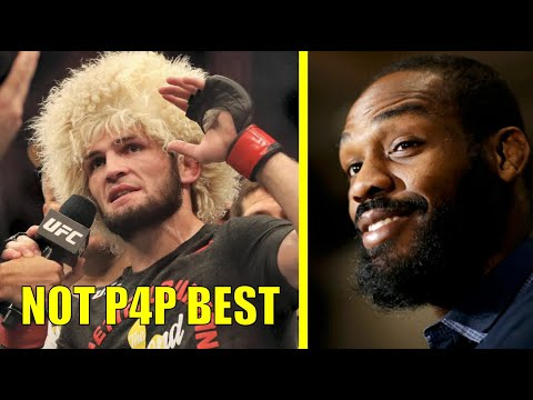 Jon Jones Reacts To Khabib Being Called #1 P4P GOAT