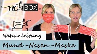 Mund-Nasen-Maske in nur 10 min nähen mit Nasenbügel, Gummi- oder Schrägband | für Nähanfänger