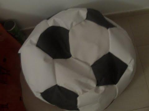 Como hacer un puff de pelota youtube - Como rellenar un puff ...