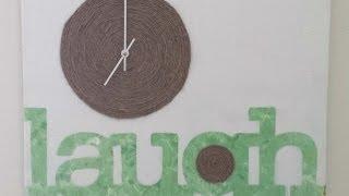 Diy Canvas Wall Clock