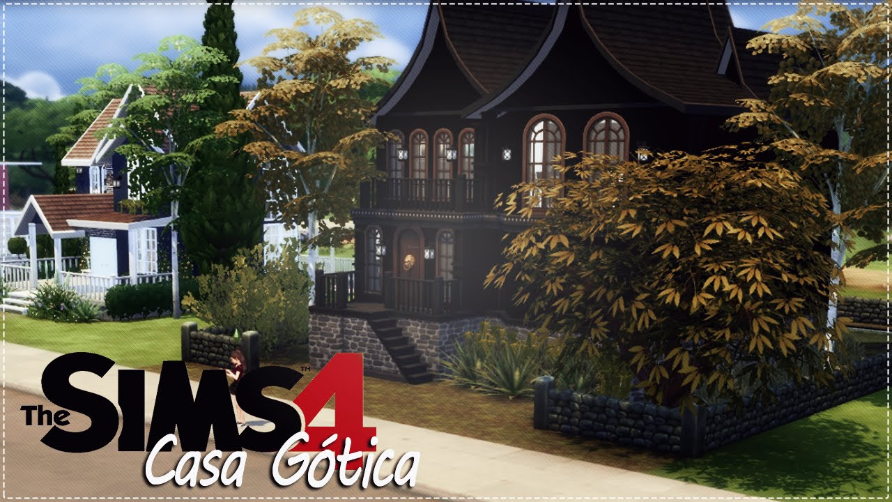 The sims 4 casa g tica youtube for Casa revival gotica