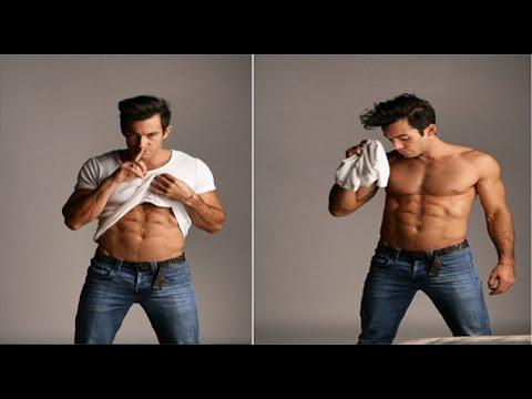Aaron Diaz hace striptease