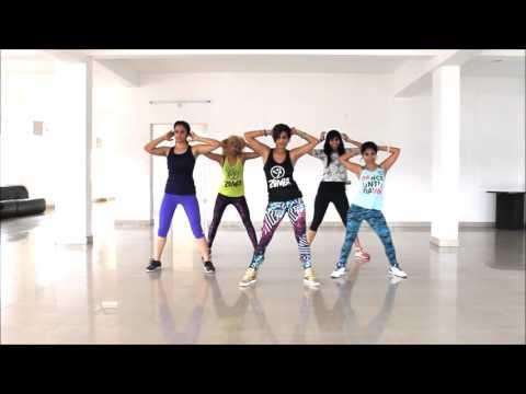 Zumba Fitness Routine By Vijaya on Les Jumo/ Sexy Ft Mohombi