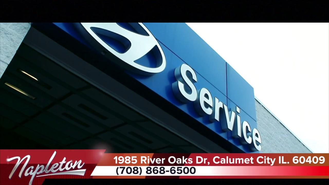 POV drive into Napleton River Oaks Hyundai Service - YouTube