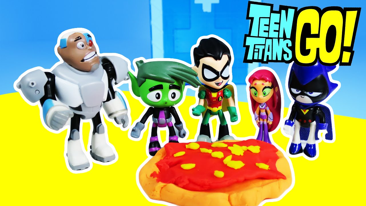 Teen Titans Go Make Play-Doh Pizza - Youtube-6039