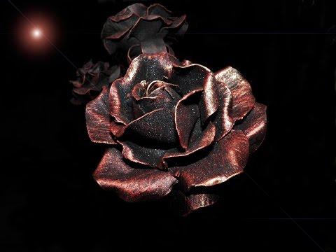 Ковка розы из металла