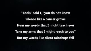 Repeat youtube video Disturbed - The Sound Of Silence [Lyrics Video]