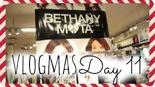 ⛄ Bethany Mota Collection Haul, Salad, Nine West Hangout | VLOGMAS DAY 11
