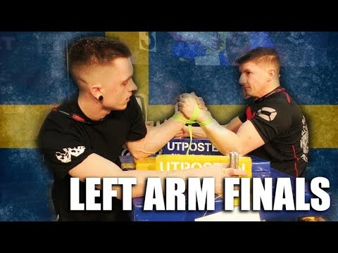 SWEDISH NATIONALS IN ARMWRESTLING 2019 - ALL LEFT ARM FINALS!