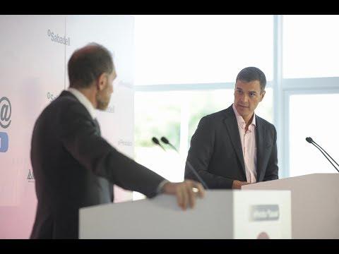 Pedro Sánchez interviene en los Desayunos de Primera Plan@ de El Periódico