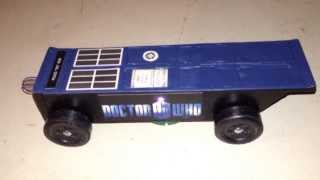 TARDIS pinewood derby car
