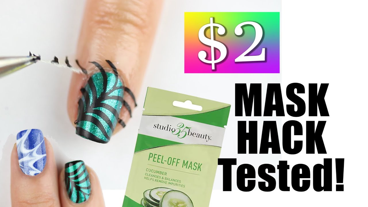 ❤ $2 DRUGSTORE PEEL OFF MASK NAIL HACK..TESTED!! ❤ - YouTube