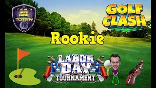 Golf Clash tips, Playthrough, Hole 1-9 - ROOKIE - TOURNAMENT WIND! Labor Day Tournament!