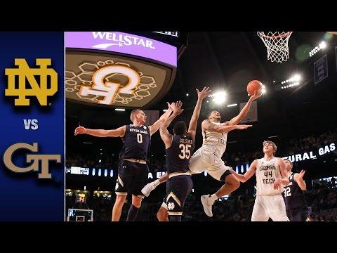 Notre Dame vs. Georgia Tech Men's Basketball Highlights (2016-17)