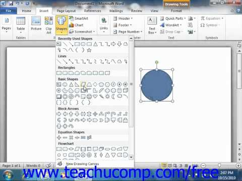 Word 2010 tutorial inserting shapes microsoft training lesson 131 word 2010 tutorial inserting shapes microsoft training lesson 131 ccuart Choice Image