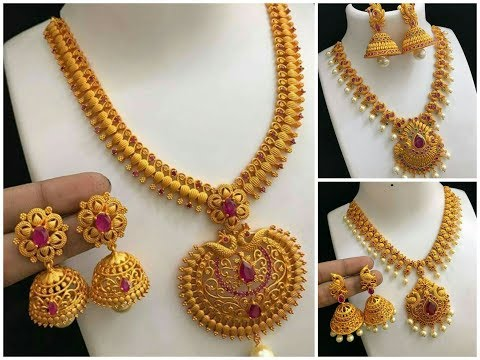 Latest Antique Jewellery with Jhumka designs
