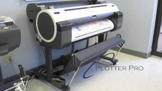Canon iPF750 wide format printer plotter demo