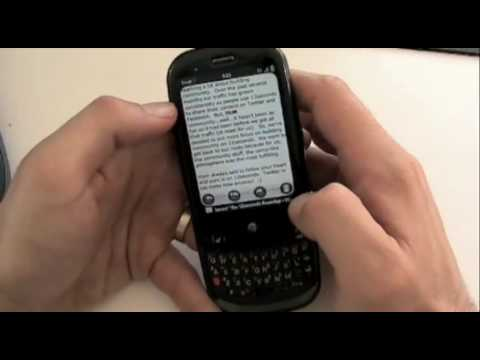 Palm Pre (Sprint): 20 Minutes of Pre: Email, Apps, WebOS