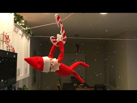 Elf On The Shelf Caught Moving And Talking Riding A Zip