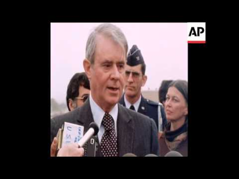 UPITN 22 1 78 US SECRETARY OF STATE, CYRUS VANCE LEAVES FOR CAIRO
