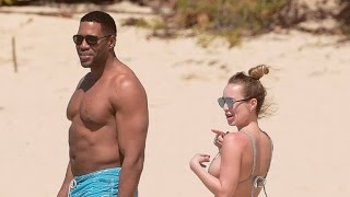 Michael Strahan Hits the Beach With 27-Year-Old Girlfriend Kayla Quick!