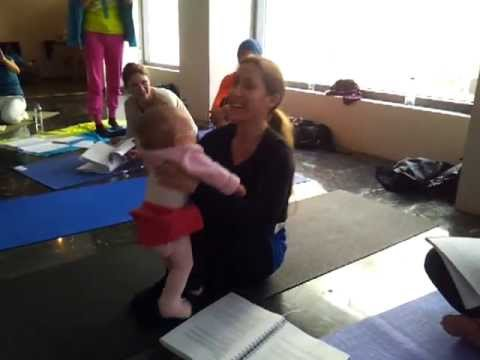 Mom and Baby Yoga - Cayetana in Athens Training